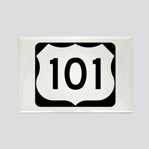US Route 101 Rectangle Magnet