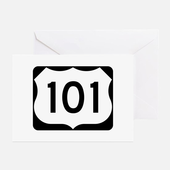 US Route 101 Greeting Cards (Pk of 10)