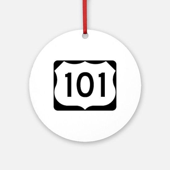 US Route 101 Ornament (Round)
