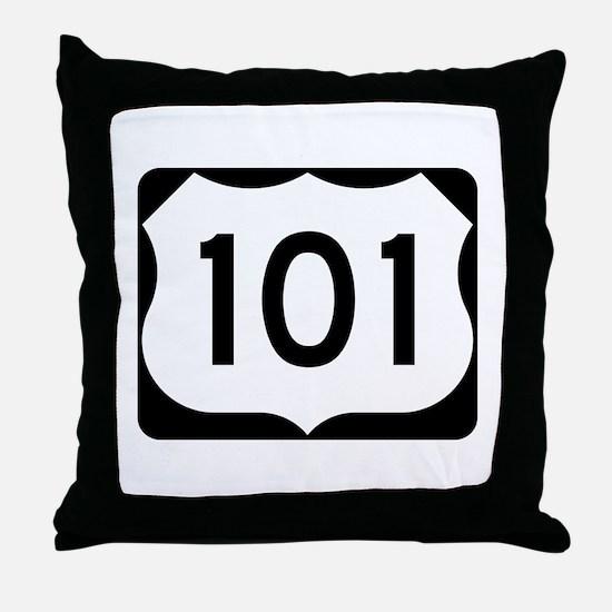US Route 101 Throw Pillow