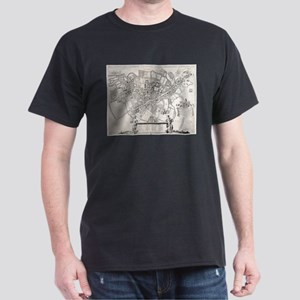 Vintage Map of Cambridge England (1690) T-Shirt