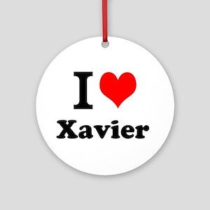 I Love Xavier Ornament (Round)