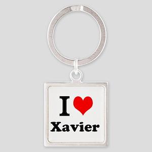 I Love Xavier Keychains