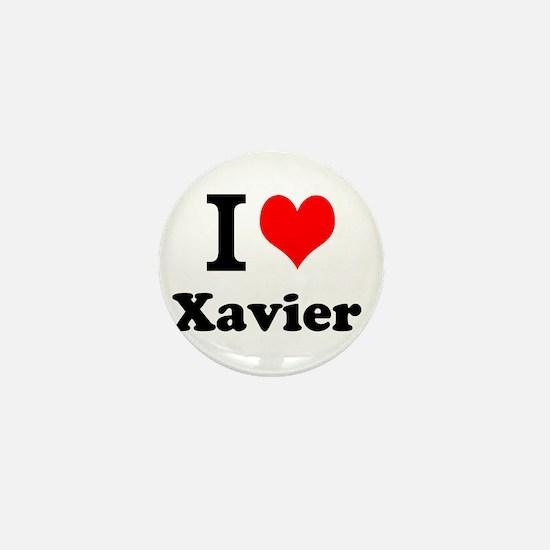 I Love Xavier Mini Button