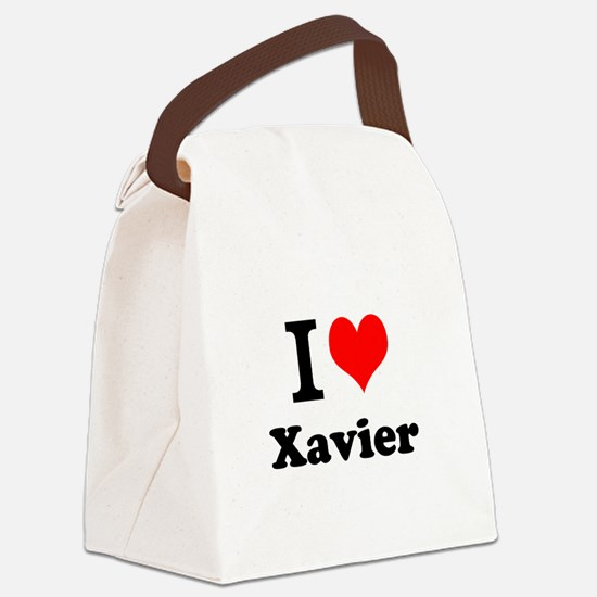 I Love Xavier Canvas Lunch Bag