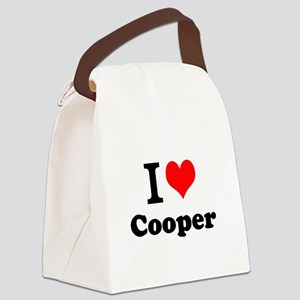 I Love Cooper Canvas Lunch Bag
