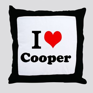 I Love Cooper Throw Pillow