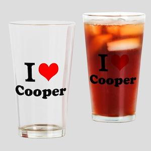 I Love Cooper Drinking Glass