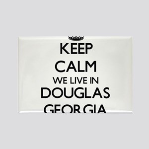 Keep calm we live in Douglas Georgia Magnets