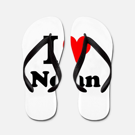 I Love Nolan Flip Flops