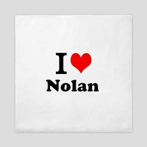 I Love Nolan Queen Duvet