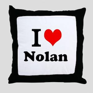 I Love Nolan Throw Pillow