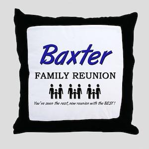 Baxter Family Reunion Throw Pillow