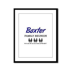 Baxter Family Reunion Framed Panel Print