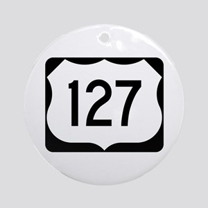 US Route 127 Ornament (Round)