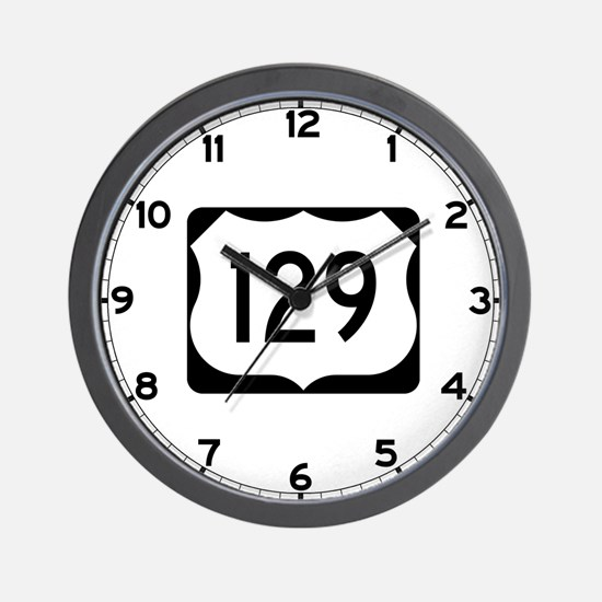 US Route 129 Wall Clock