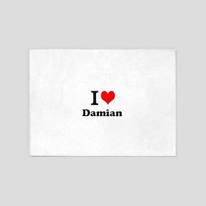 I Love Damian 5'x7'Area Rug