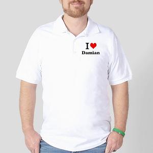 I Love Damian Golf Shirt