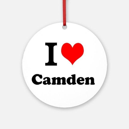 I Love Camden Ornament (Round)