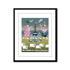 Garden Of Wiggly Delights Framed Panel Print