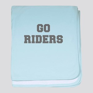RIDERS-Fre gray baby blanket