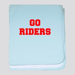 RIDERS-Fre red baby blanket