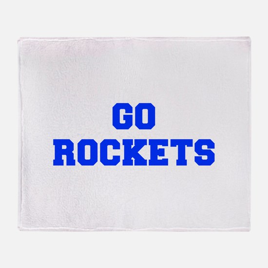 Rockets-Fre blue Throw Blanket