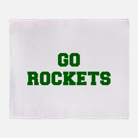 Rockets-Fre dgreen Throw Blanket