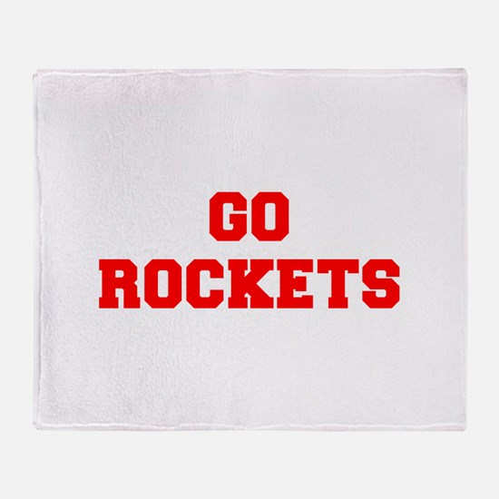 ROCKETS-Fre red Throw Blanket