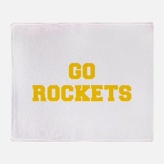 Rockets-Fre yellow gold Throw Blanket
