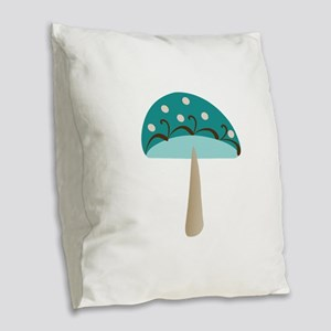 MUSHROOM Burlap Throw Pillow