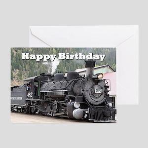Happy Birthday Steam train engine lo Greeting Card