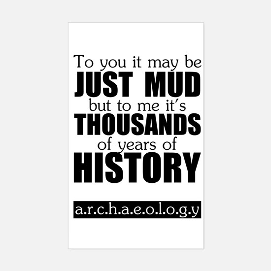 Just Mud? Rectangle Decal