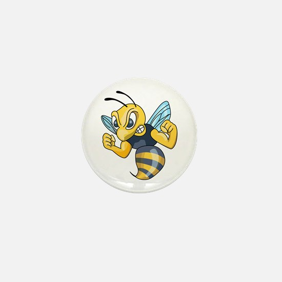 YELLOW JACKET HORNET Mini Button