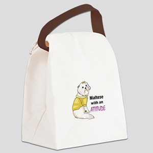 MALTESE WITH ATTITUDE Canvas Lunch Bag