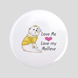 """MALTESE DOG 3.5"""" Button"""