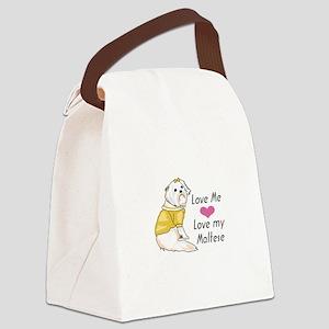 MALTESE DOG Canvas Lunch Bag