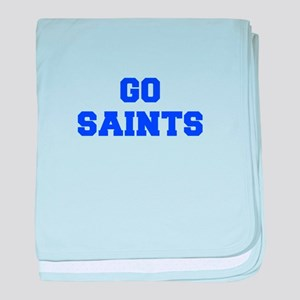 Saints-Fre blue baby blanket