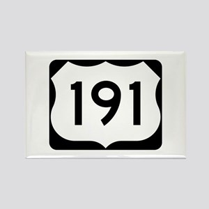 US Route 191 Rectangle Magnet