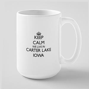 Keep calm we live in Carter Lake Iowa Mugs