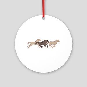 RUNNING MUSTANGS Ornament (Round)