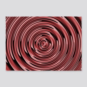 Circles of Marsala 5'x7'Area Rug