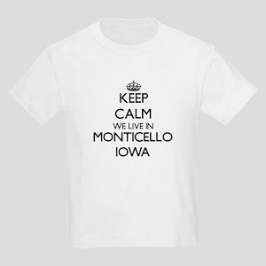 Keep calm we live in Monticello Iowa T-Shirt
