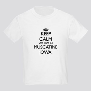 Keep calm we live in Muscatine Iowa T-Shirt