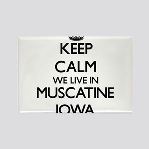 Keep calm we live in Muscatine Iowa Magnets