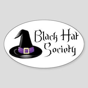 Black Hat Society Oval Sticker