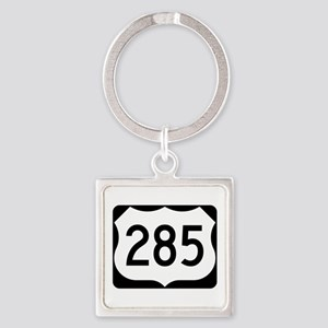 US Route 285 Square Keychain