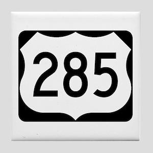 US Route 285 Tile Coaster