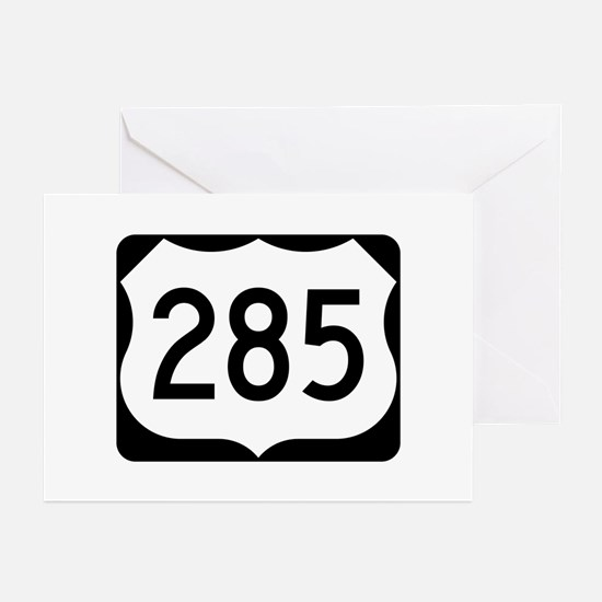 US Route 285 Greeting Cards (Pk of 10)