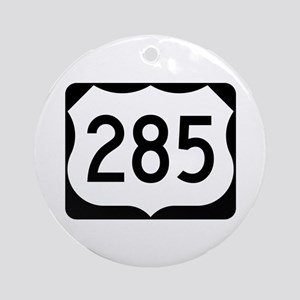 US Route 285 Ornament (Round)
